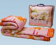 Одеяло холлофайбер 140*205 (вес 1,4 кг) ткань полиэстер в чемодане ФПТ-15, Ника