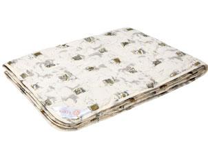 """ОЗР1 одеяло """"Золотое Руно"""" 140*205 (чемодан), ткань перкаль (100% хлопок)"""