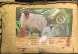 Подушка Овечья шерсть полиэстер 50*70 вес 0,8 кг , Ника