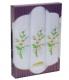 PV60 Подарочный набор женские  носовые платки с вышивкой 3 шт.Etteggy