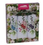 PV61 Подарочный набор женские носовые платки с вышивкой 3 шт.Etteggy